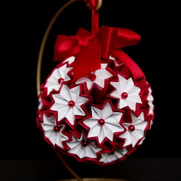 Znalezione obrazy dla zapytania ozdoby świąteczne origami