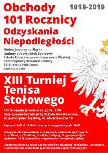 XIII Turniej Tenisa Stołowego z okazji Narodowego Święta Niepodległości @ Mickiewicza