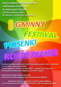 Gminny Festiwal Piosenki Rozbrykanej - przesłuchania (I etap) @ SOKiBP