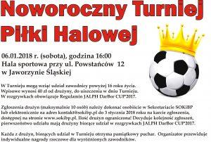 Noworoczny Turniej Piłki Halowej @ Sala sportowa, ul. Powstańców 12
