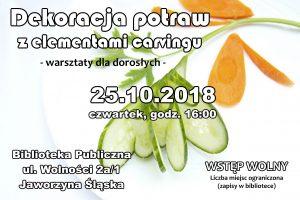 Dekoracja potraw - warsztaty dla dorosłych @ Biblioteka Publiczna