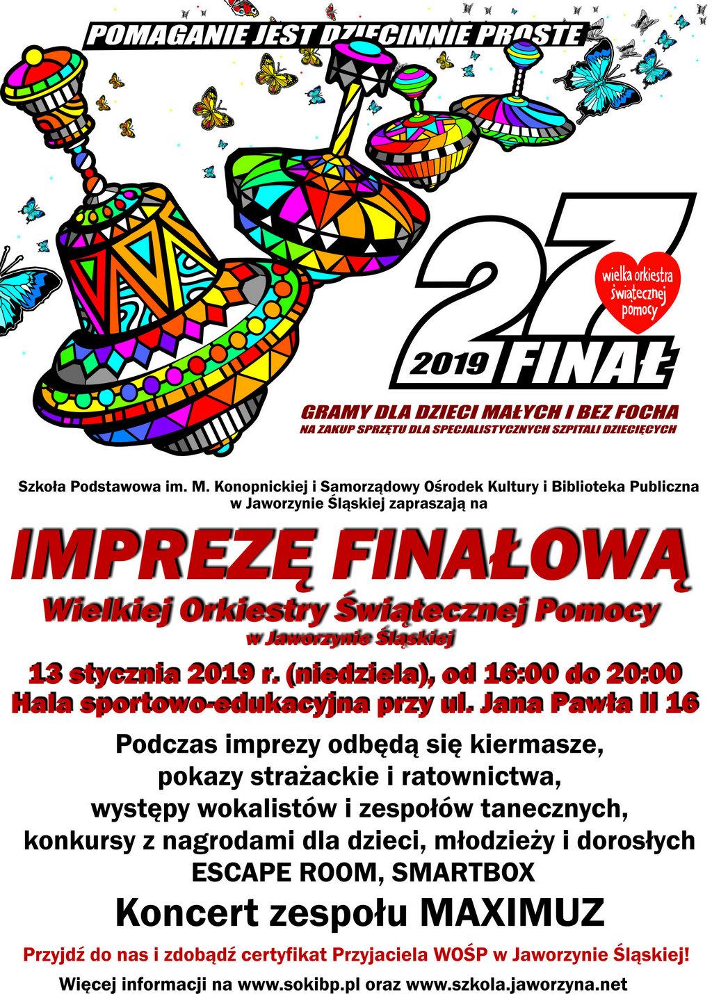 27 Finał Wośp W Jaworzynie śląskiej Samorządowy Ośrodek Kultury I