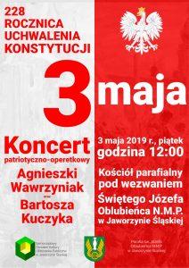 Koncert patriotyczno-operetkowy z okazji Święta Konstytucji 3 maja @ Kościół Parafialny pw. Św. Józef Oblubieńca NMP w Jaworzynie Śląskiej