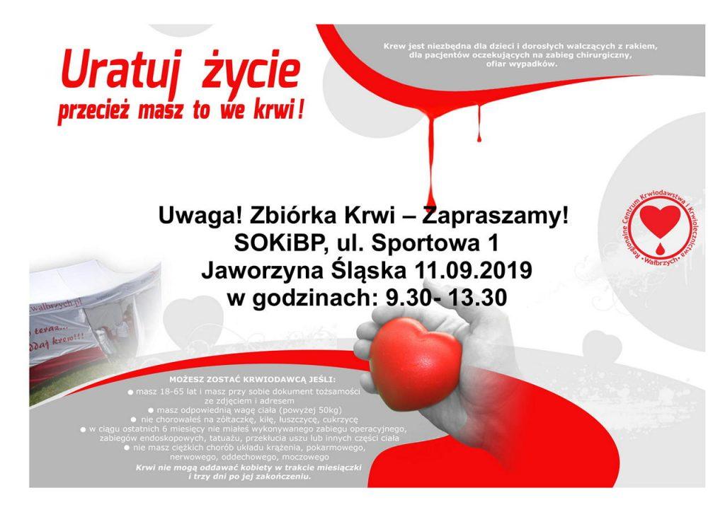 Zbiórka krwi w Jaworzynie Śląskiej