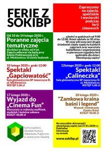 Ferie z SOKiBP @ Szkoła Podstawowa w Jaworzynie Śląskiej